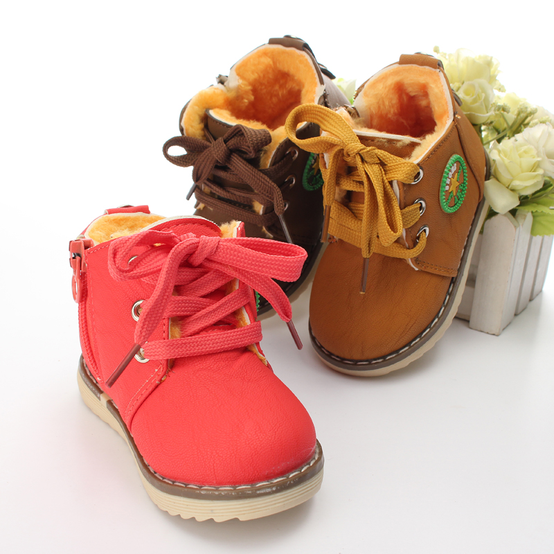 Baby Girl Boy Kids Winter Warm Martin Snow Boots Children Cotton Oxfords Shoes