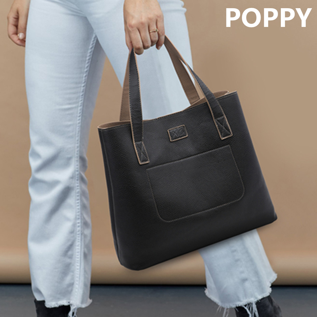 Womens Leather Tote Shoulder Bags Handbags with Paris Reverse