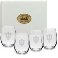 Indiana Crystal 11.5 oz Stemless White Wine Glass (Set of 4)