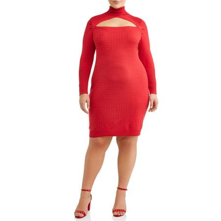 Plus Size Cinderella Dress (Women's Plus Size Turtleneck Studded Sweater)