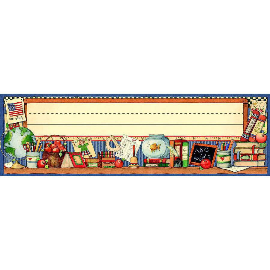 "Teacher Created Resources Susan Winget Jumbo Nameplate, 3.5 x 11.5"", Pack of 36"