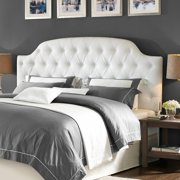 Dorel Living Lyric On Tufted Faux Leather King Headboard White