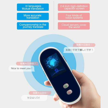 Portable Smart Multi-language Voice Translator Device 35 Languages Two-way  Real-time Interpretation English Chinese Spanish Japanese Russian for