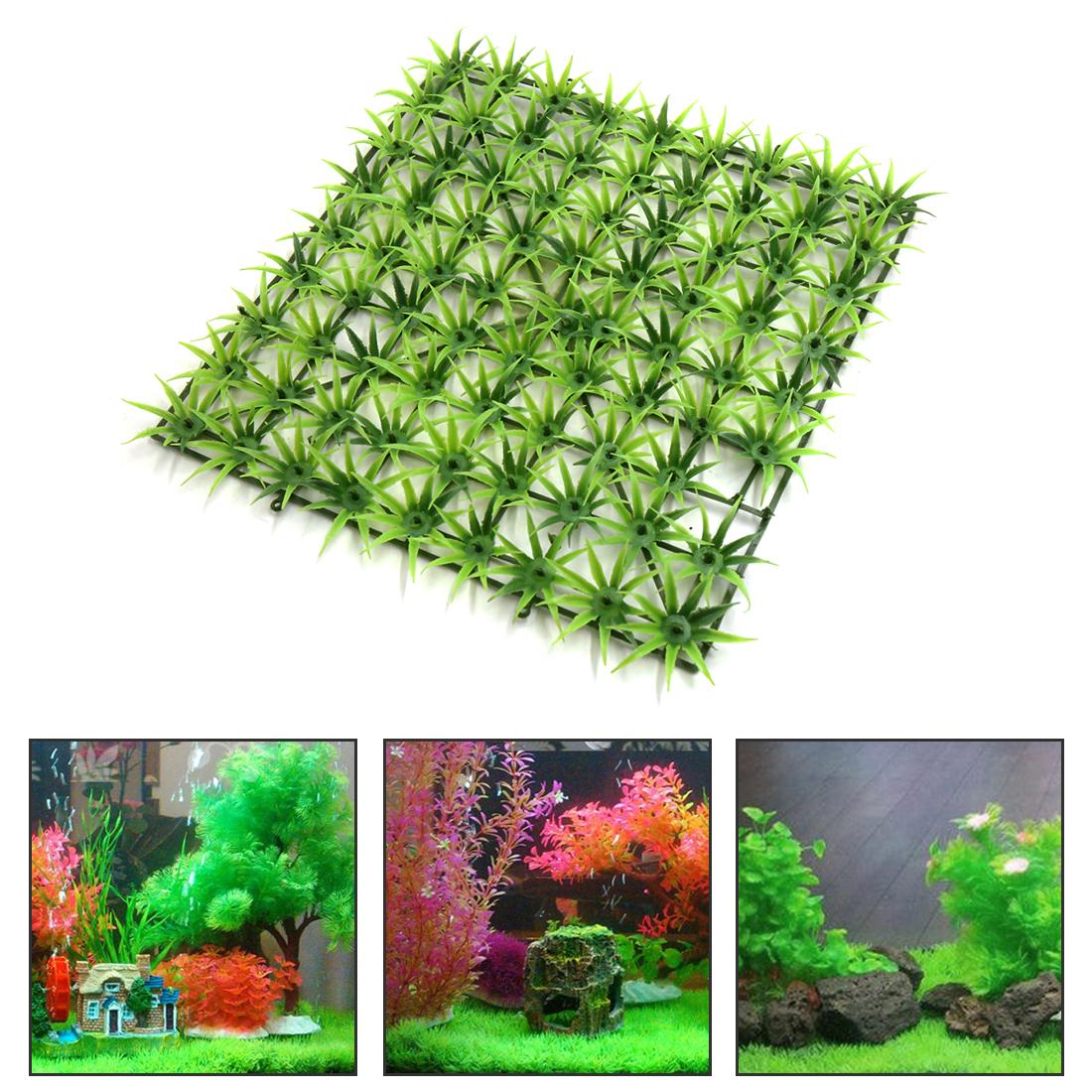 Pelouse en Plastique Vert sous Eau du réservoir d'Aquarium Ornement décoratif Aquascape - image 1 de 3