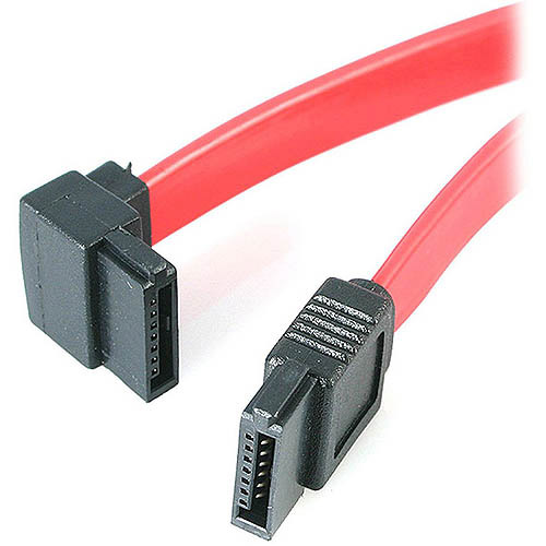 "4XEM 18"" SATA to Left Angle SATA Cable F/F"