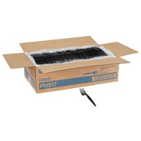 Dixie® Heavy-weight Disposable Plastic Fork, FH517, Black, 1,000 per Case