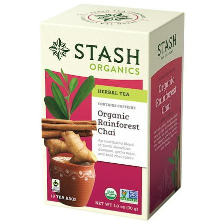 (2 Boxes) Stash Tea Organic Rainforest Chai Herbal Tea, 18 Ct, 1.0