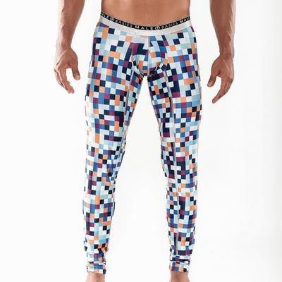 The Malebasics Microfiber Long John offers comfort, soft fabrics and special uplift technology Pixels Medium (Microfiber Long Underwear)