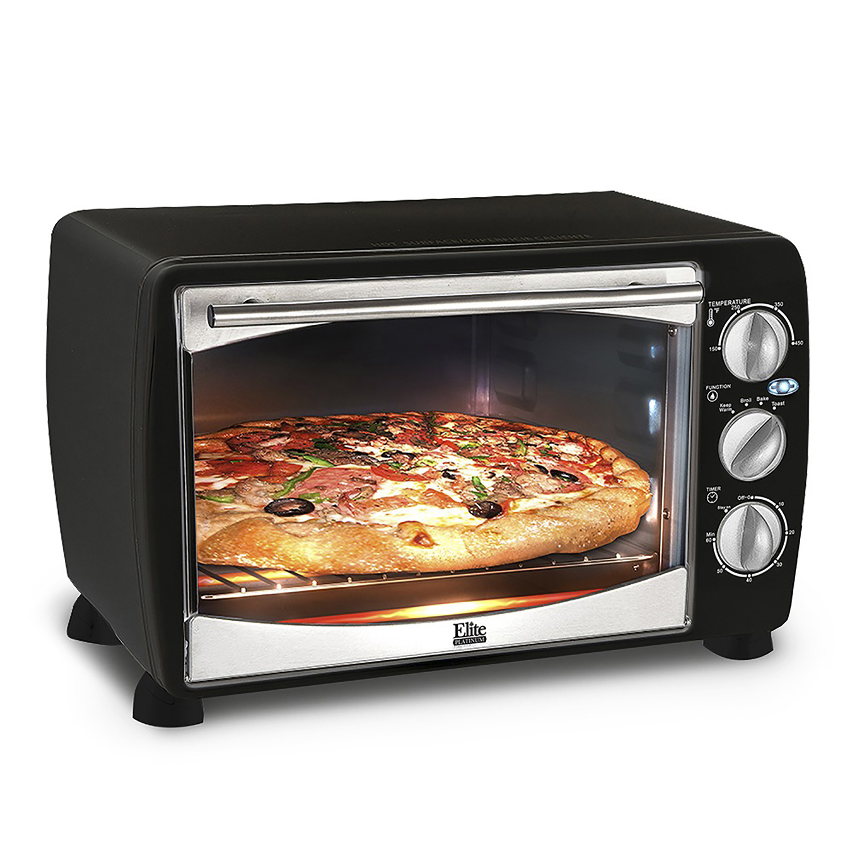 Elite ETO-180B 6-Slice Toaster Oven, Black