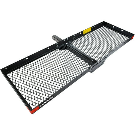 Hitch Ski Accessory (Highland Steel Hitch Mounted Cargo Tray, Black)