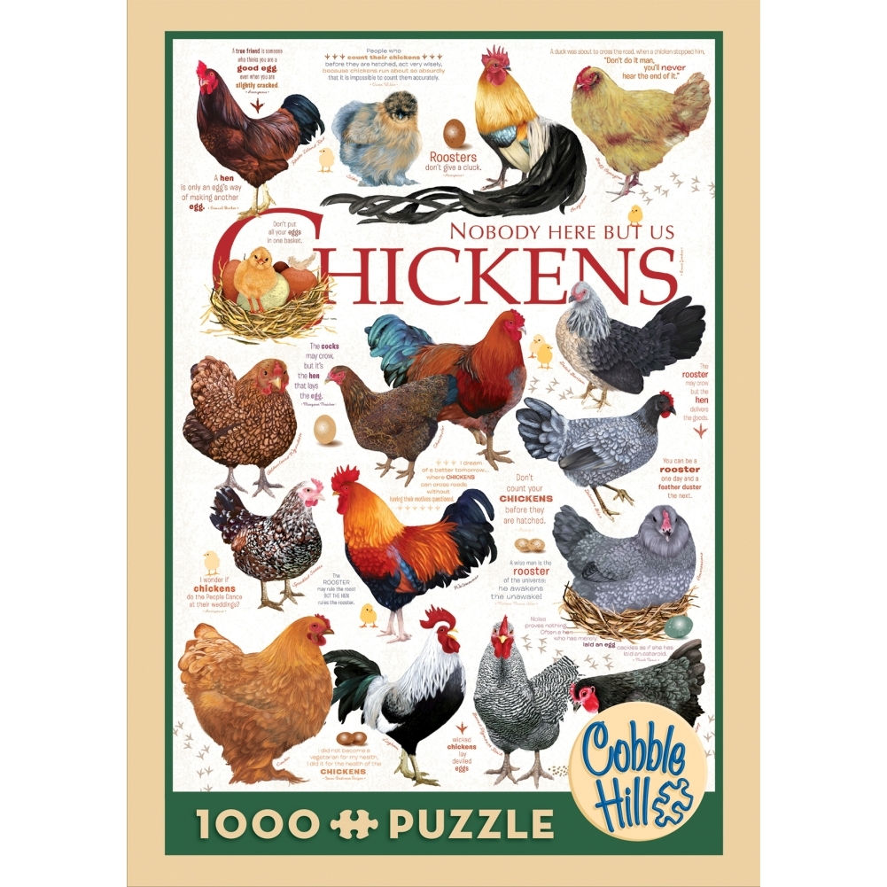 Chicken Quotes 1000 Piece Puzzle,  Roosters | Chickens by Go! Games