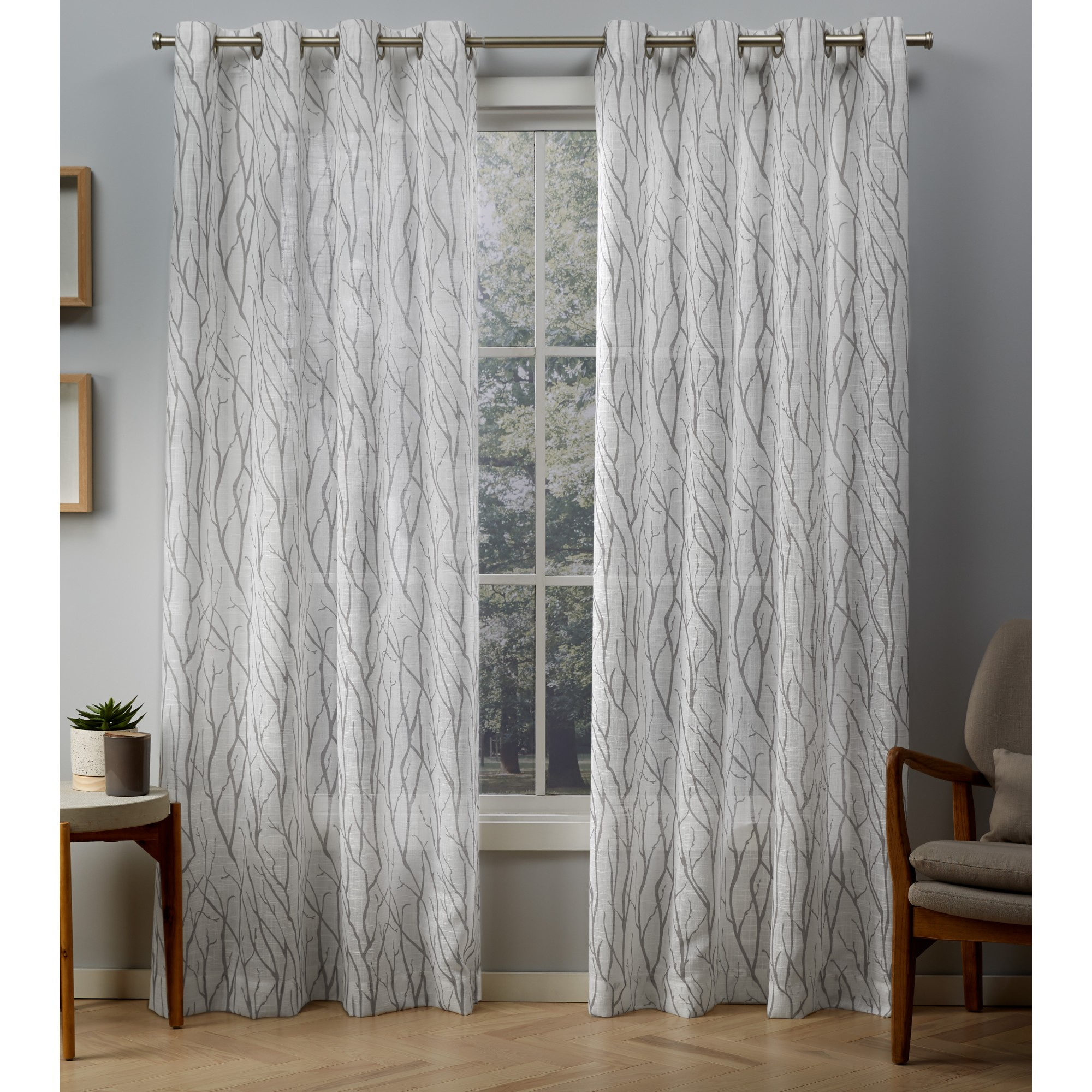 Exclusive Home Curtains 2 Pack Oakdale Sheer Grommet Top Curtain Panels