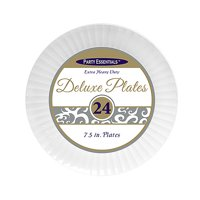 "1 - Party Essentials 7.5"" Deluxe Salad Plates - White 24 Ct."