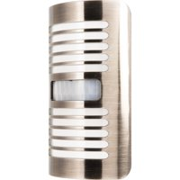 GE CoverLite LED Motion-Select Night Light, Up to 40 Lumens, Louvers Design, Brushed Nickel, 37299