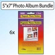 Pioneer Photo Albums 5X7 Magnetic Photo Frame 2 Pack Kit Of 6