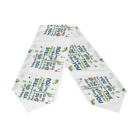 POPCreation Famous Quotes Table Runner 13x90 Inches White Table Top Decoration ()