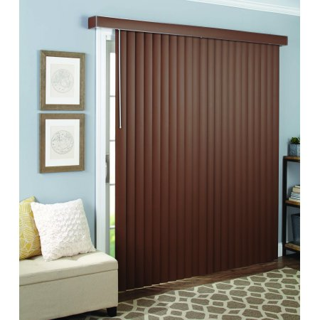 Better Homes and Gardens Vertical Window Blind, Wood Grain, 3.5""