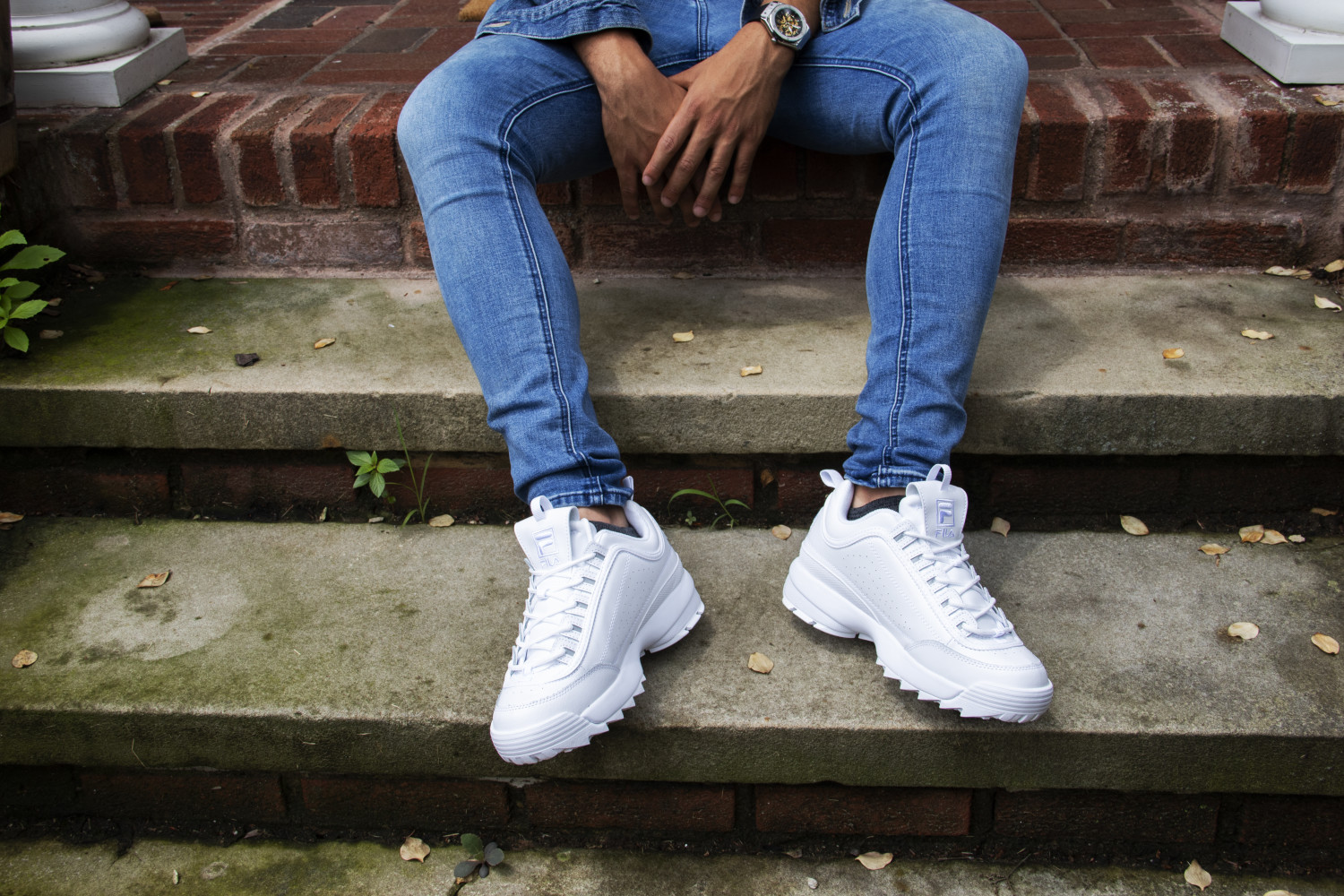 Ankle-High Patent Leather Sneaker