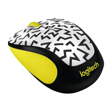 Logitech M325C Wireless Optical Mouse - Yellow Zigzag Logitech Mini Optical Mouse