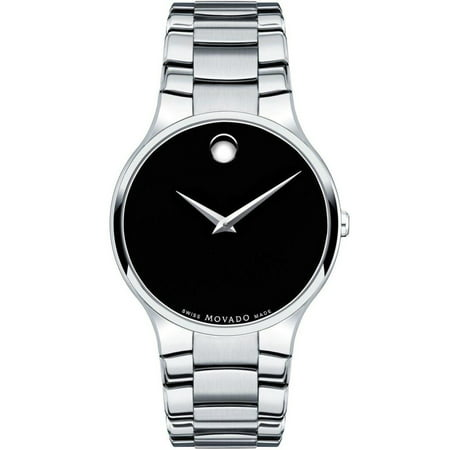 Serio Black Dial Stainless Steel Men's Watch (Black Ion Stainless Steel Watch)