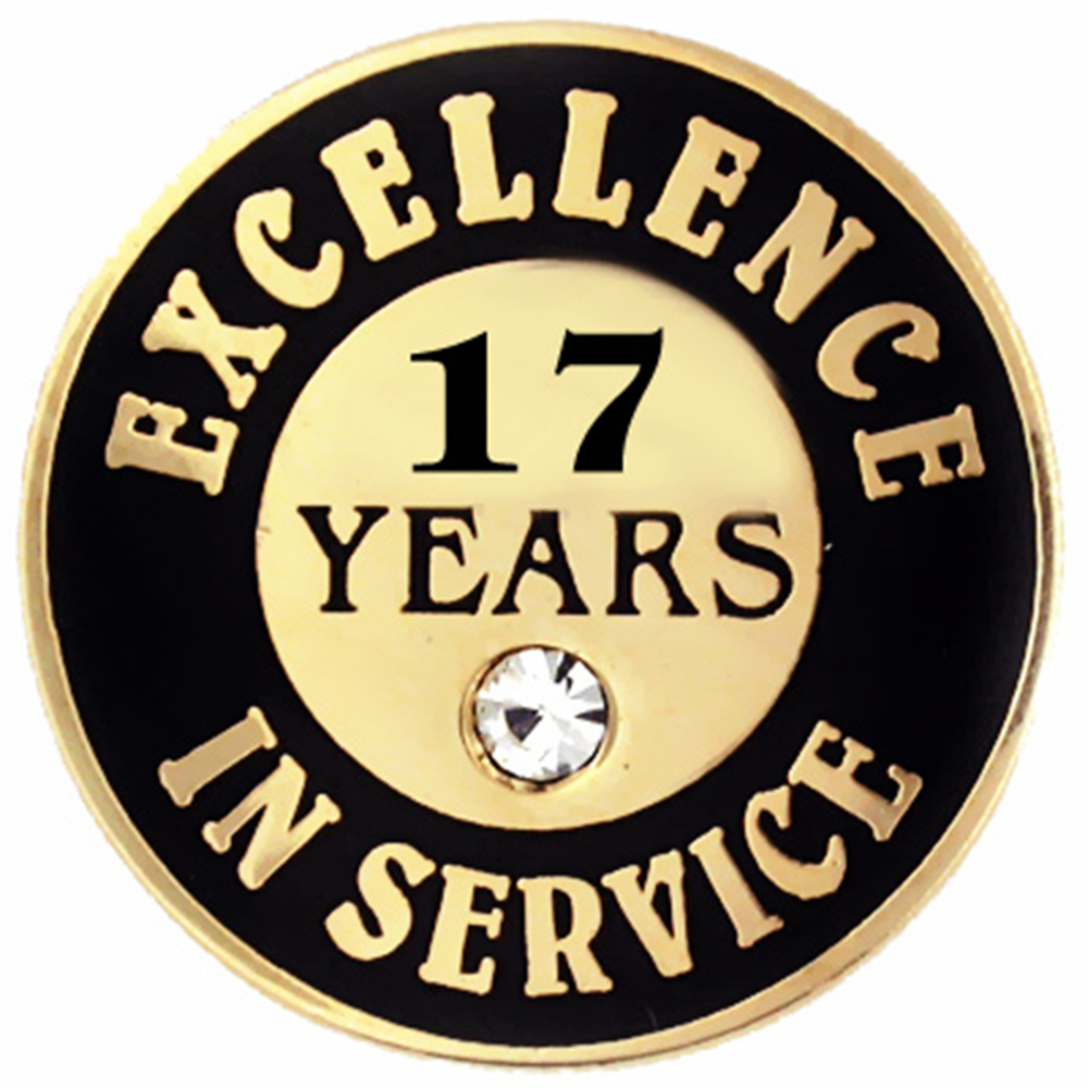 Excellence In Service Pin - 17 years