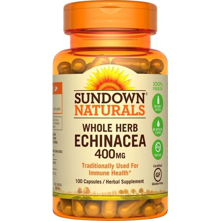 Sundown Naturals Echinacea Herbal Supplement, 400mg, 100 count - Futurebiotics Garlic Echinacea