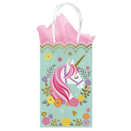 Magical Unicorn Glitter Kraft Paper Favor Bags (10ct)