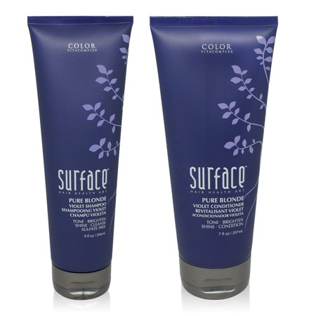 Surface Pure Blonde Violet Wash 9 Oz & Pure Blonde Violet Rinse 7 Oz Combo Pack