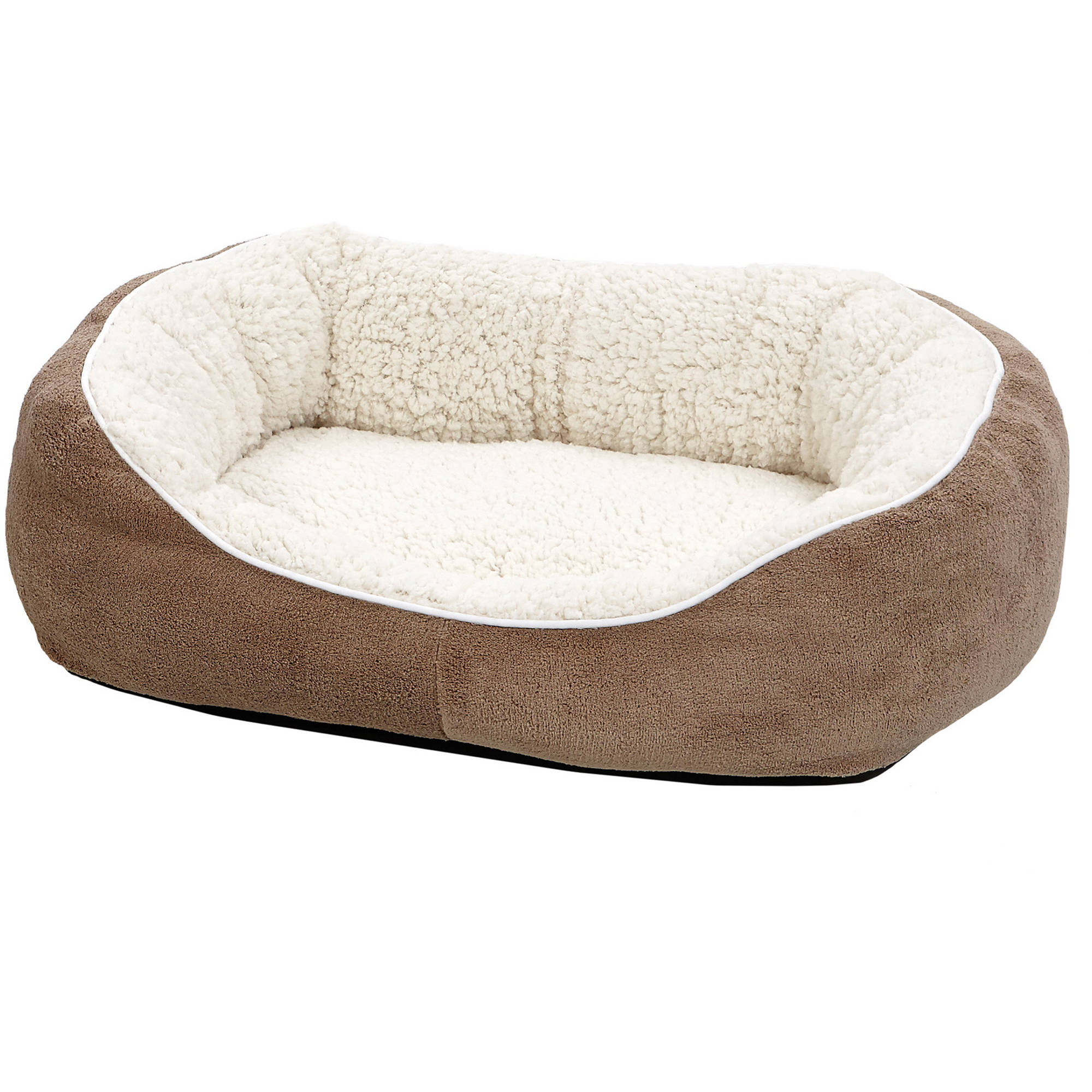 Midwest Ultra-Soft Fleece Dog & Cat Cuddle Bed, Small, Brown