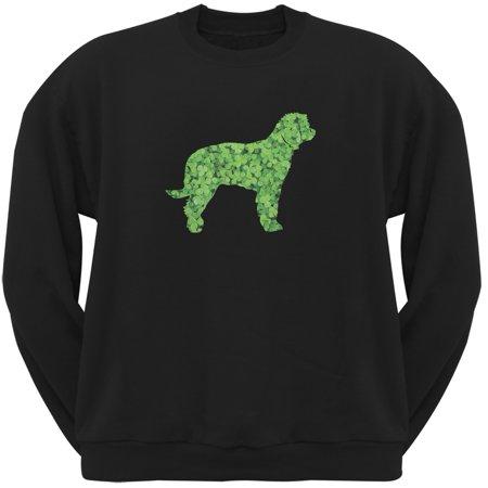 St. Patricks Day - Labrador Retriever Shamrock Black Adult Sweatshirt