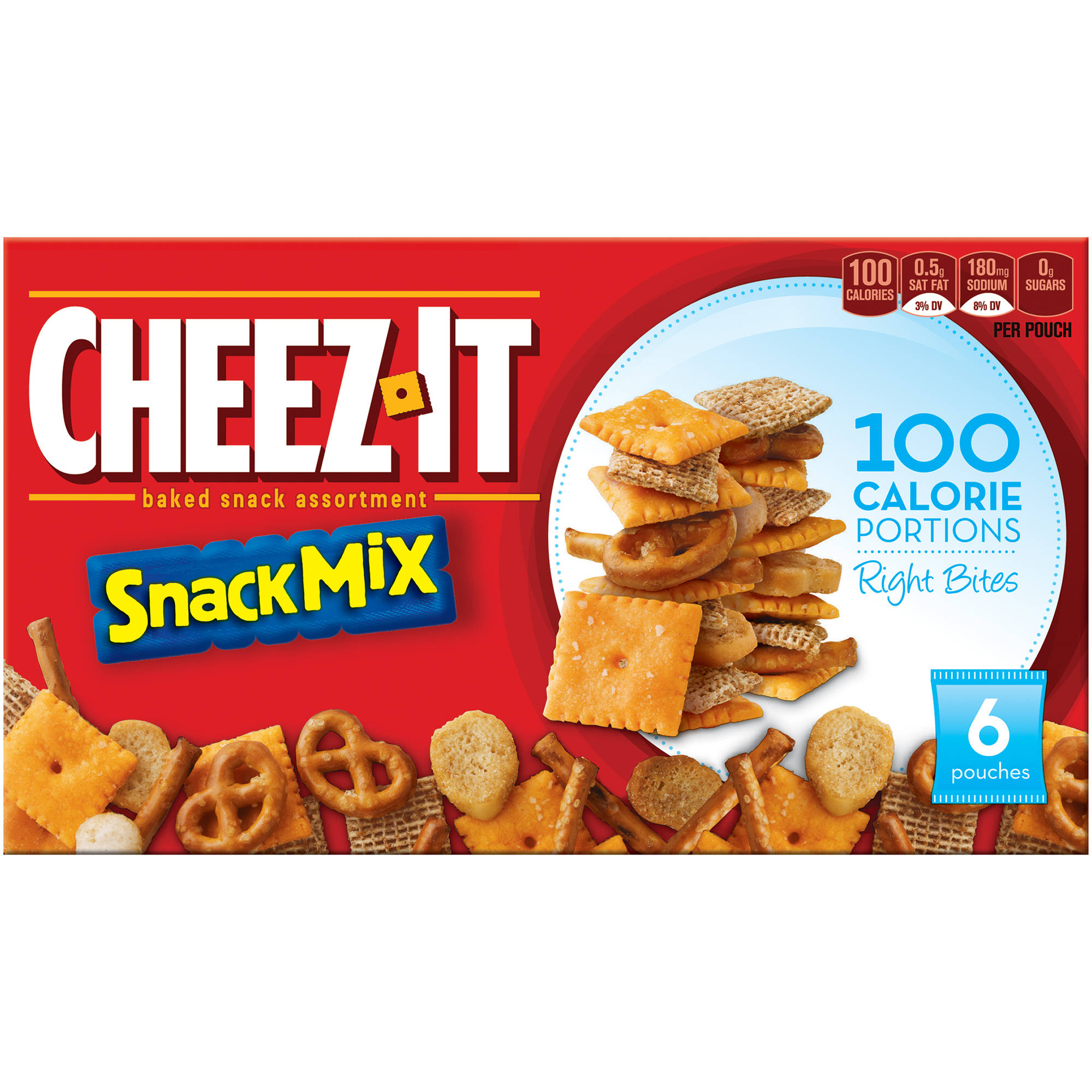 Right Bites 100 Calorie Cheez-It Baked Snack Mix, 6 count