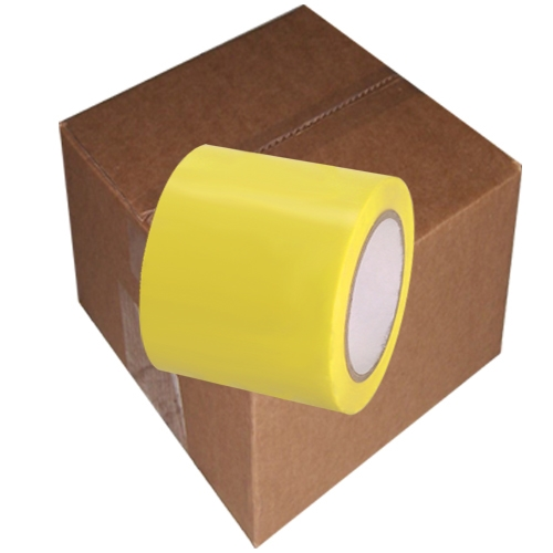 Yellow Vinyl Tape 4 inch x 36 yd. Roll 12 Roll Case