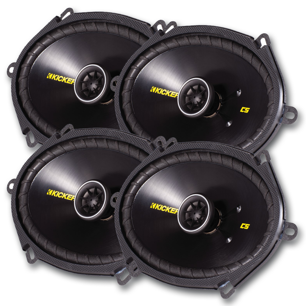Kicker CS speaker package - Two pairs of Kicker CS Series 6 Inchx8 Inch Coaxial 40CS684