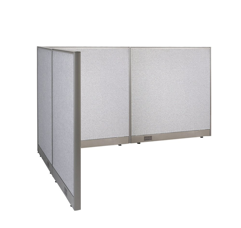 office divider wall. GOF L-Shaped Freestanding Office Panel Cubicle Wall Divider Partition 60D X 96W 48H