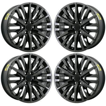 GMC SIERRA 1500 2007 - 2020 PVD BLACK CHROME Factory OEM Wheels Rims ()