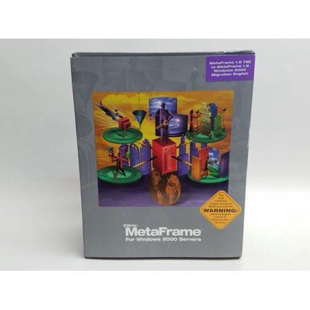 Citrix Appliance - Refurbished Citrix MetaFrame Version 1.8 Software Windows 2000 EACMMM18K00