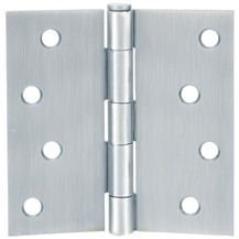 "Cosmas Satin Nickel Door Hinge 4"" Inch x 4"" Inch with Square Corners"