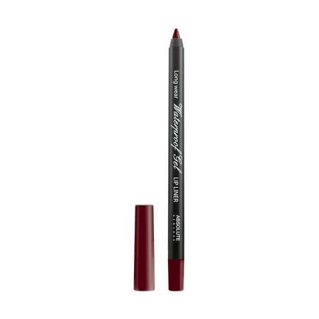 Smear Proof Lip Liner ((3 Pack) ABSOLUTE Waterproof Gel Eye & Lip Liner Berry)