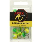 JIG HEADS 3/8 OZ 8PK CHT/GRN Multi-Colored
