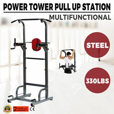 7b40c50e3f Weider Power Tower Exercise Home Gym Strength Pull-Up   Push-Up ...