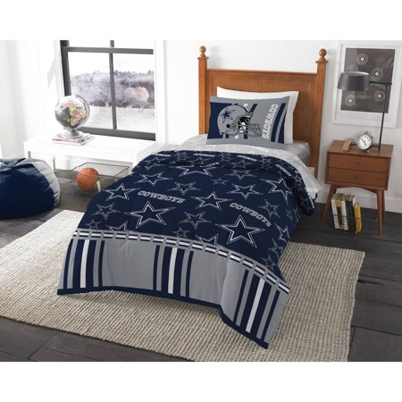 Nfl Dallas Cowboys  Track  4 Piece Twin Bed In A Bag Bedding Set