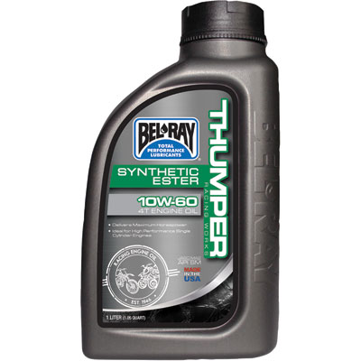 Bel-Ray Thumper Racing Full Synthetic 4-Stroke Motor Oil 10W-60 1 Liter