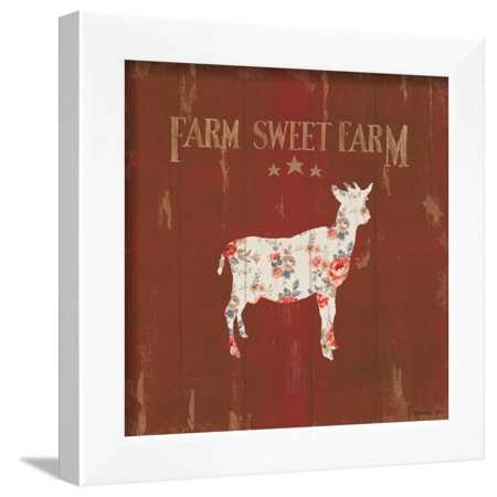 Farm Patchwork XI Framed Print Wall Art