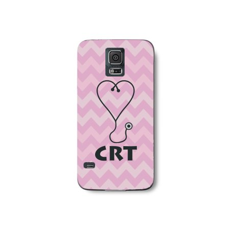 Cover Crt - Medical CRT Pink Chevron Pattern Stethoscope Heart Print Phone Case for the Samsung S6 Edge - Fashion Certified Respir