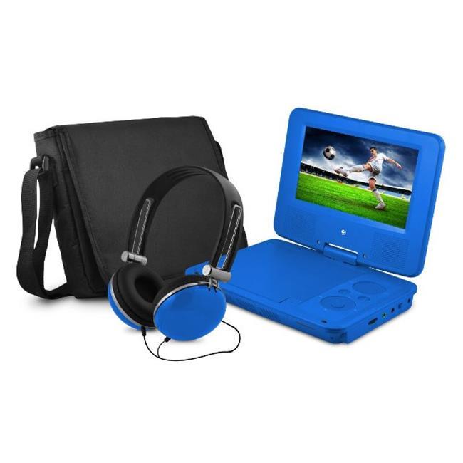 7 in. Dvd Player Bundle Blue