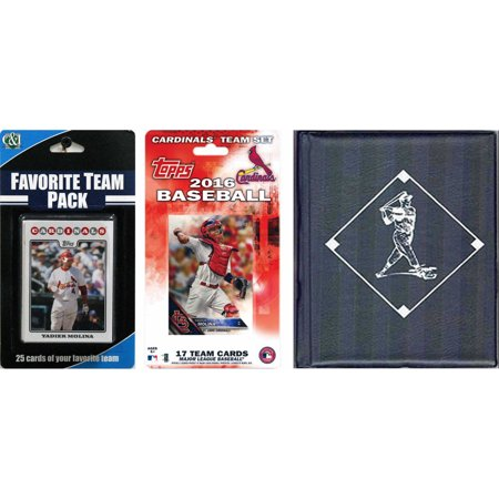 - C&I Collectables MLB St. Louis Cardinals Licensed 2016 Topps Team Set and Favorite Player Trading Cards Plus Storage Album