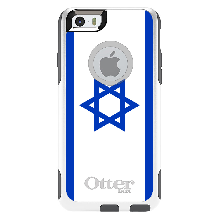 DistinctInk Custom White   Grey OtterBox Commuter Series Case for Apple iPhone 6...