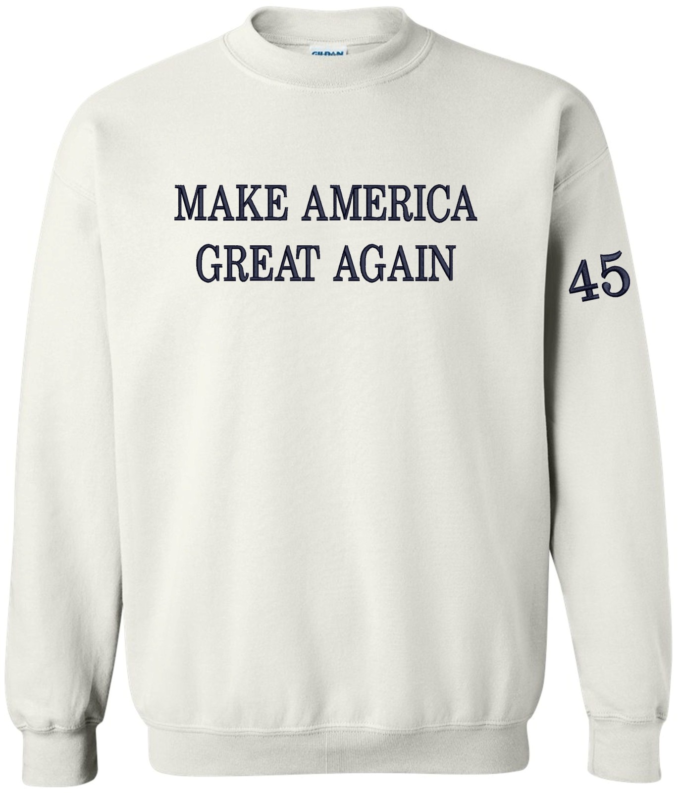 Peerless Make America Great Again Crew Neck Embroidered Navy