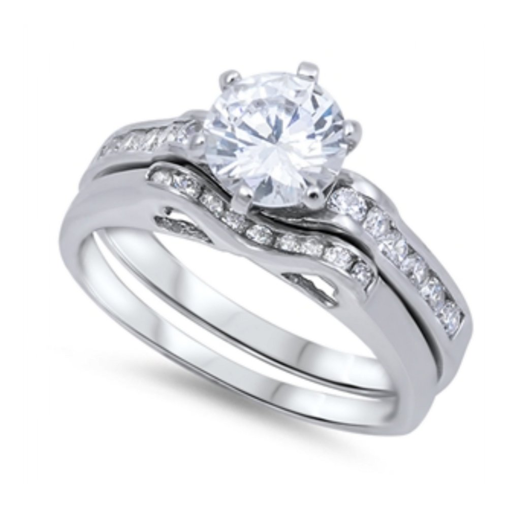 925 Sterling Silver Wedding Ring Sets by Royal Design