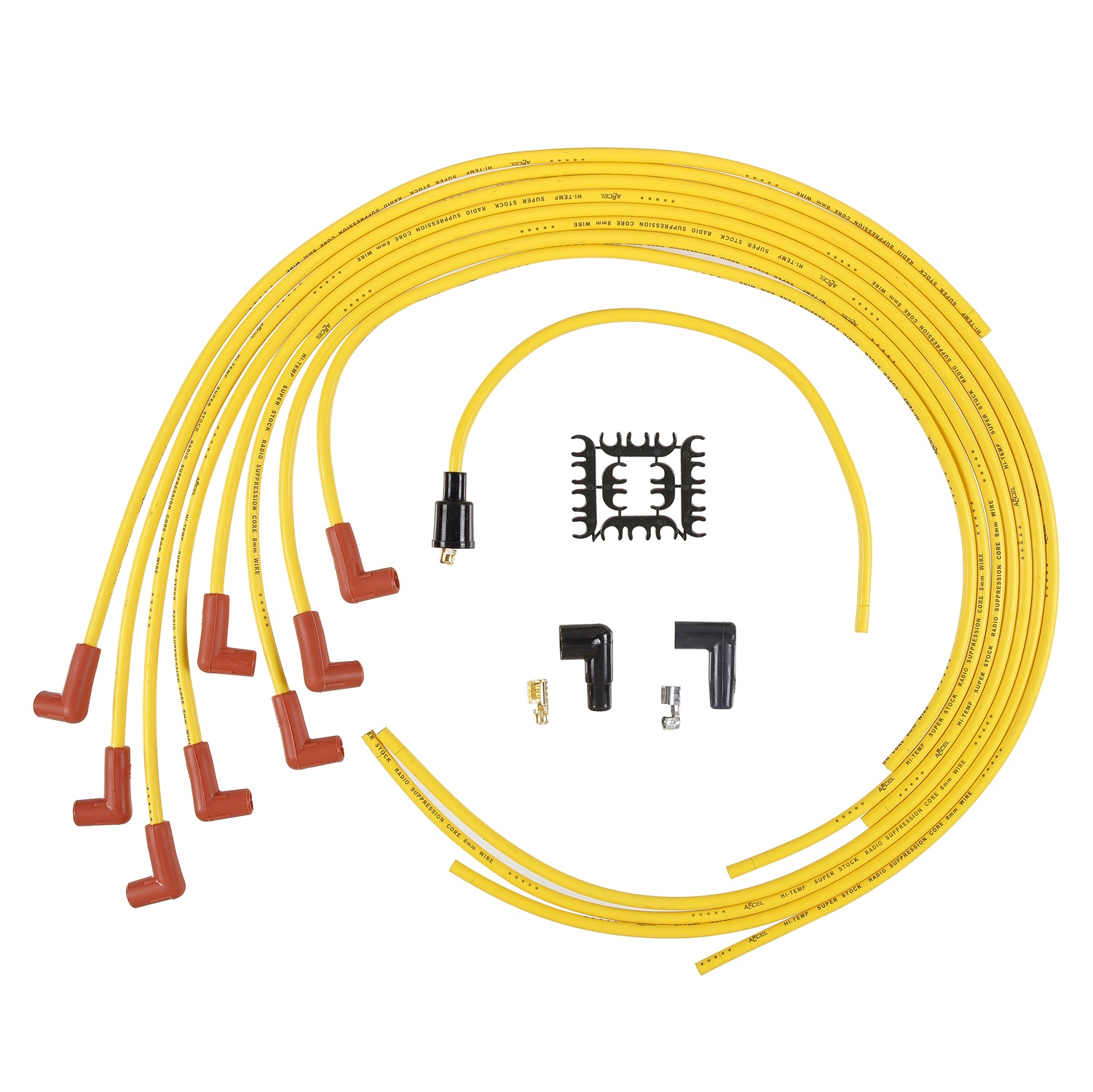 Accel 4041B Universal 8mm Super Stock Suppression Spark Plug Wires 8 Cylinders